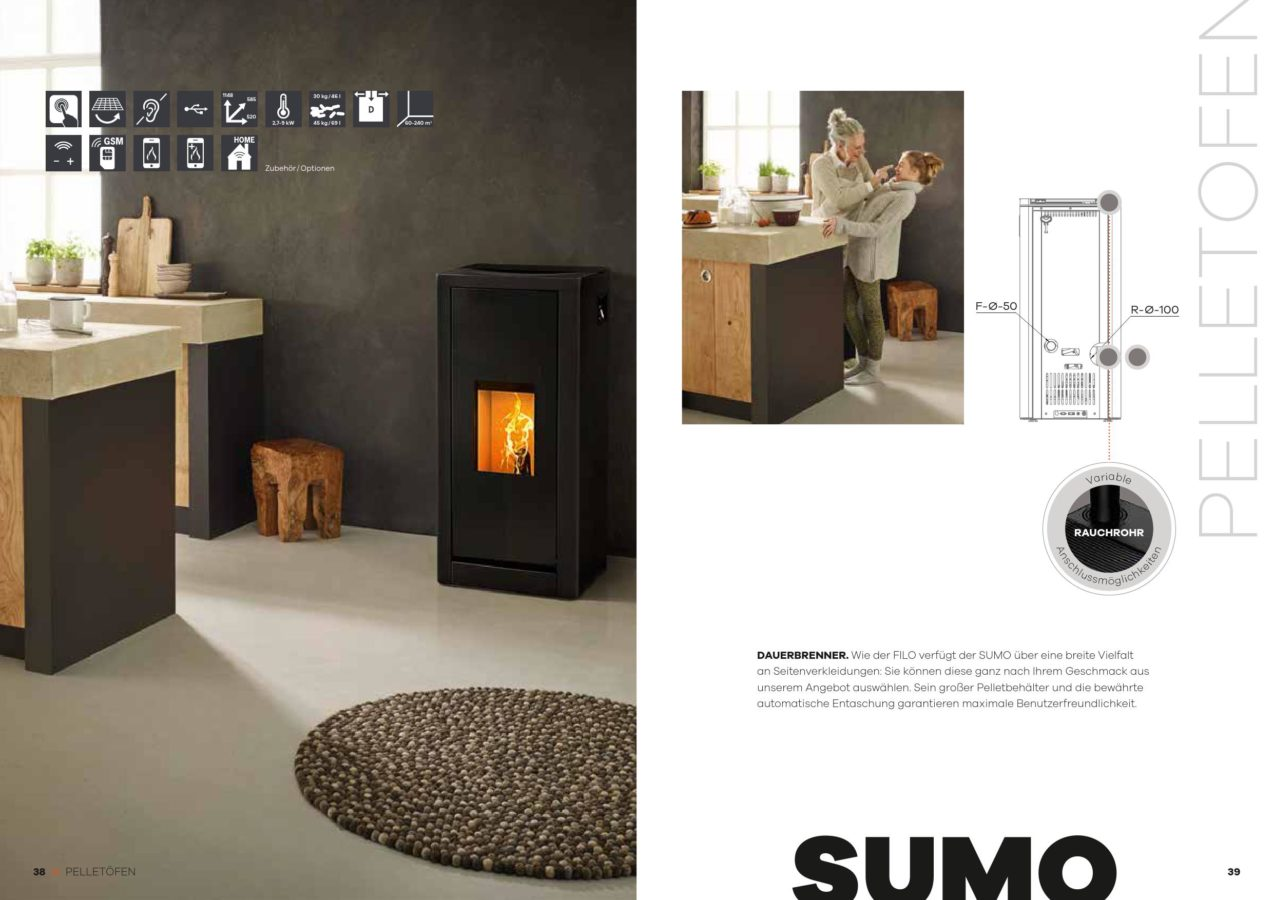 po le pellets rika sumo 9kw l d energy. Black Bedroom Furniture Sets. Home Design Ideas